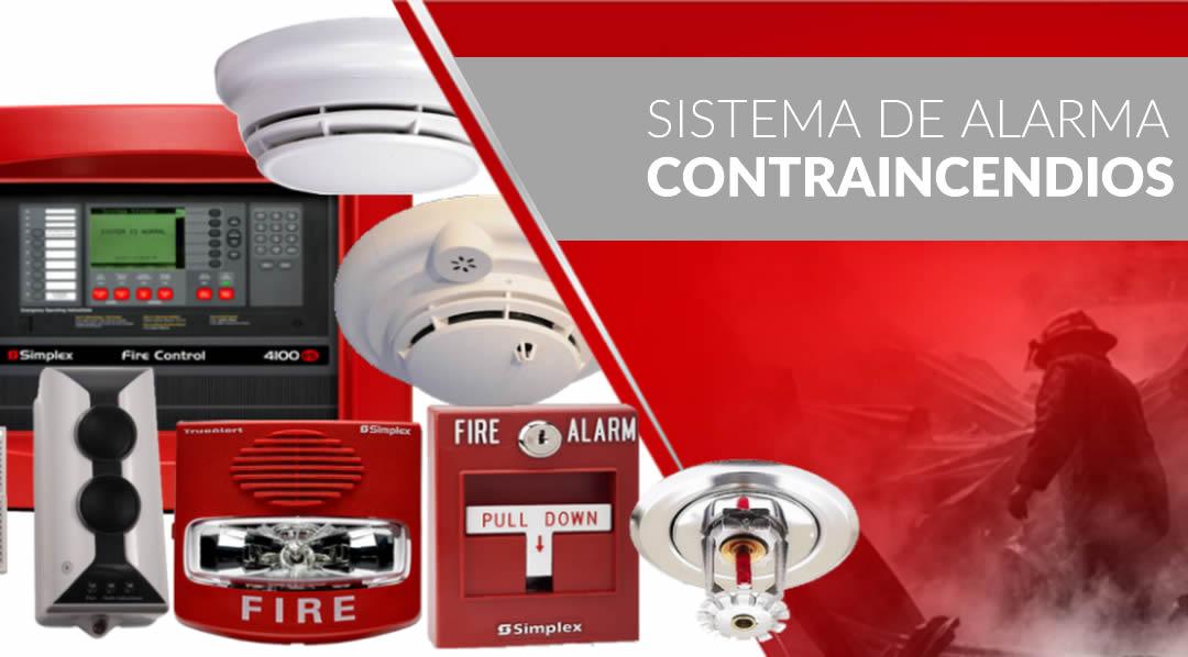 sistema de alarmas contra incendios